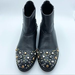 Modern Vice Madge Leather Studded Ankle Boot